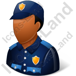 Police Officer Male Dark Icon, PNG/ICO, 256x256