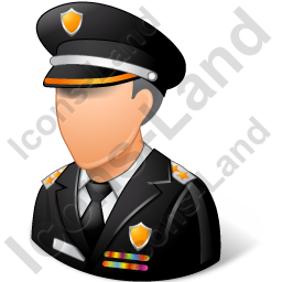 Police Sheriff Male Light Icon