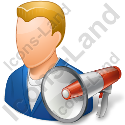 Publicity Agent Male Light Icon