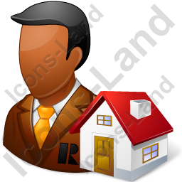 Real Estate Broker Male Dark Icon, PNG/ICO, 256x256