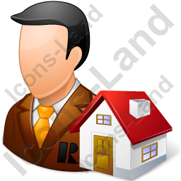 Real Estate Broker Male Light Icon, PNG/ICO, 256x256