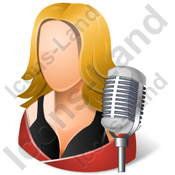 Singer Female Light Icon