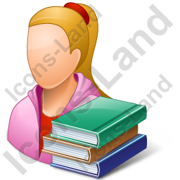 Student Female Light Icon