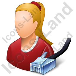 System Administrator Female Light Icon