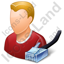 System Administrator Male Light Icon