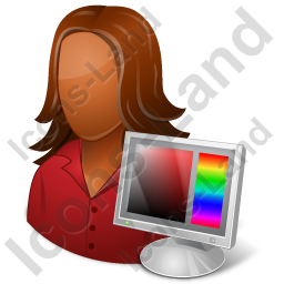 Web Designer Female Dark Icon