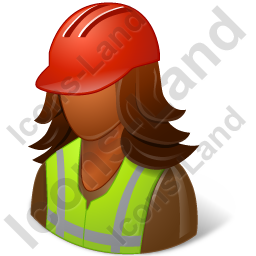 Worker Female Dark Icon, PNG/ICO, 256x256