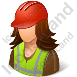 Worker Female Light Icon