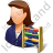 Bookkeeper Female Light Icon, PNG/ICO, 48x48