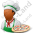 Chef Pizza Male Dark Icon, PNG/ICO, 48x48