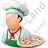 Chef Pizza Male Light Icon, PNG/ICO, 48x48