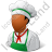 Cook Male Dark Icon, PNG/ICO, 48x48