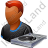 Disc Jockey Male Dark Icon