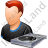 Disc Jockey Male Light Icon, PNG/ICO, 48x48