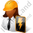 Electrical Engineer Female Dark Icon, PNG/ICO, 48x48