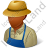 Farmer Male Dark Icon