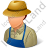 Farmer Male Light Icon, PNG/ICO, 48x48