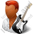 Guitarist Male Dark Icon, PNG/ICO, 48x48