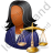 Lawyer Female Dark Icon, PNG/ICO, 48x48