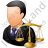 Lawyer Male Light Icon, PNG/ICO, 48x48