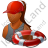 Lifeguard Lifebuoy Female Dark Icon