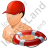 Lifeguard Lifebuoy Male Light Icon