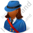 Mail Carrier Female Dark Icon, PNG/ICO, 48x48