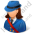 Mail Carrier Female Light Icon, PNG/ICO, 48x48