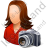Photographer Female Light Icon