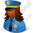 Police Captain Female Dark Icon, PNG/ICO, 48x48
