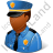 Police Captain Male Dark Icon