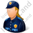 Police Officer Female Light Icon, PNG/ICO, 48x48