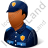 Police Officer Male Dark Icon, PNG/ICO, 48x48