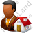 Real Estate Broker Male Dark Icon, PNG/ICO, 48x48