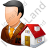 Real Estate Broker Male Light Icon, PNG/ICO, 48x48