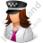 Taxi Driver Female Light Icon, PNG/ICO, 48x48