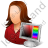 Web Designer Female Light Icon