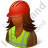 Worker Female Dark Icon, PNG/ICO, 48x48