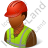 Worker Male Dark Icon