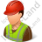 Worker Male Light Icon