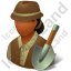 Archeologist Female Dark Icon