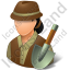Archeologist Female Light Icon