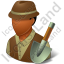 Archeologist Male Dark Icon
