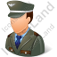 Army Captain Male Light Icon