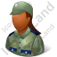 Army Soldier Female Dark Icon