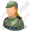 Army Soldier Female Light Icon