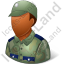 Army Soldier Male Dark Icon