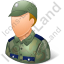 Army Soldier Male Light Icon