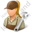 Auto Mechanic Female Light Icon