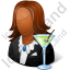 Bartender Female Dark Icon